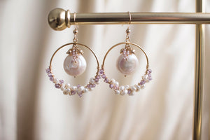 The Rosalie Pearl and Amethyst Earrings