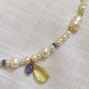 The Marie Tanzanite & Pearl Necklace