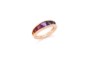 Lucky Love Rainbow Gemstone Ring