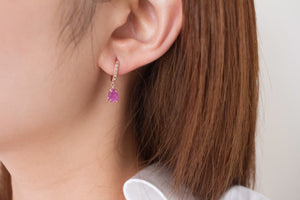 Pink Sapphire Candy Mix n' Match Stackable Hoop Earrings