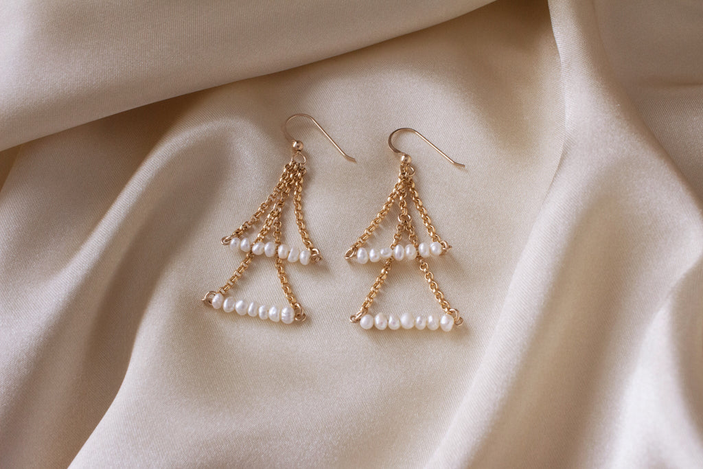 Adelyn Seed Pearl Earrings