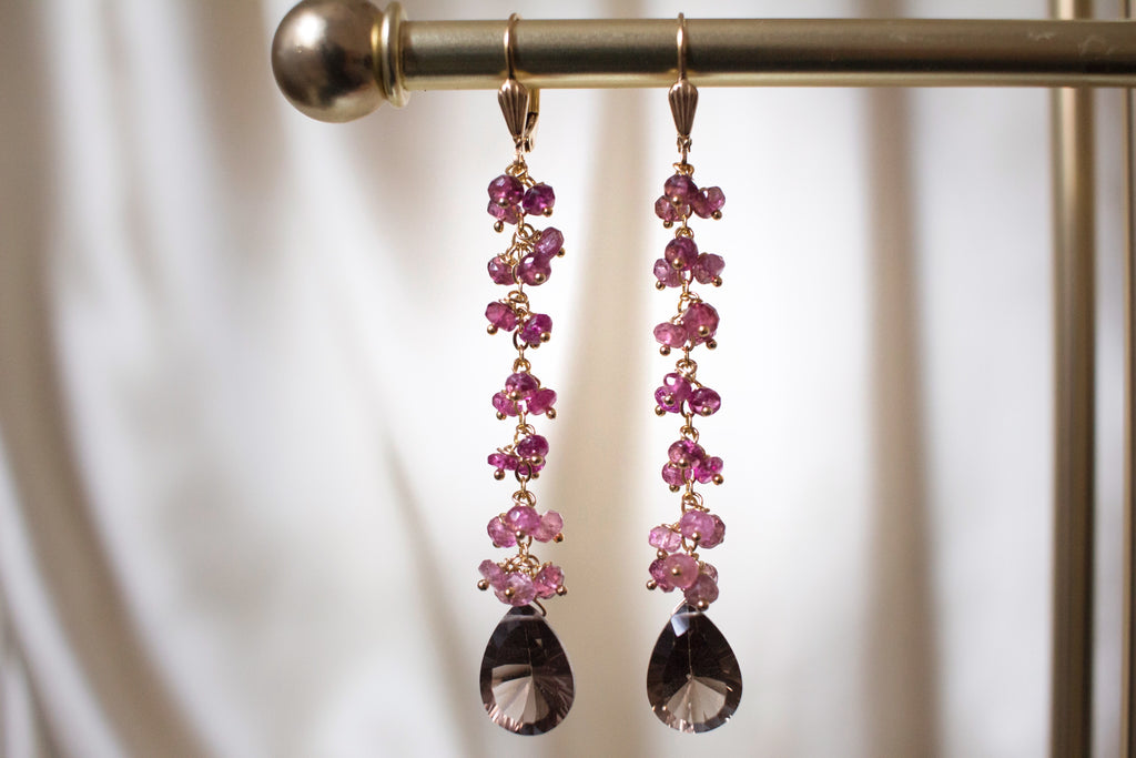 One Fine Day Pink Tourmaline Earrings