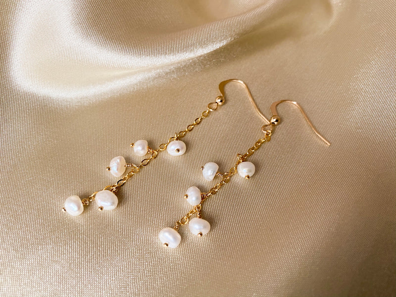 Mini Pearl Dangle Earrings