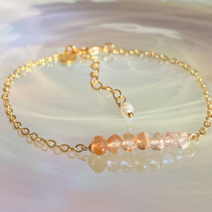 Ombré Sunstone Bar Stacking Bracelet