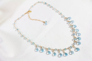 Isla Blue Topaz and Aquamarine Necklace