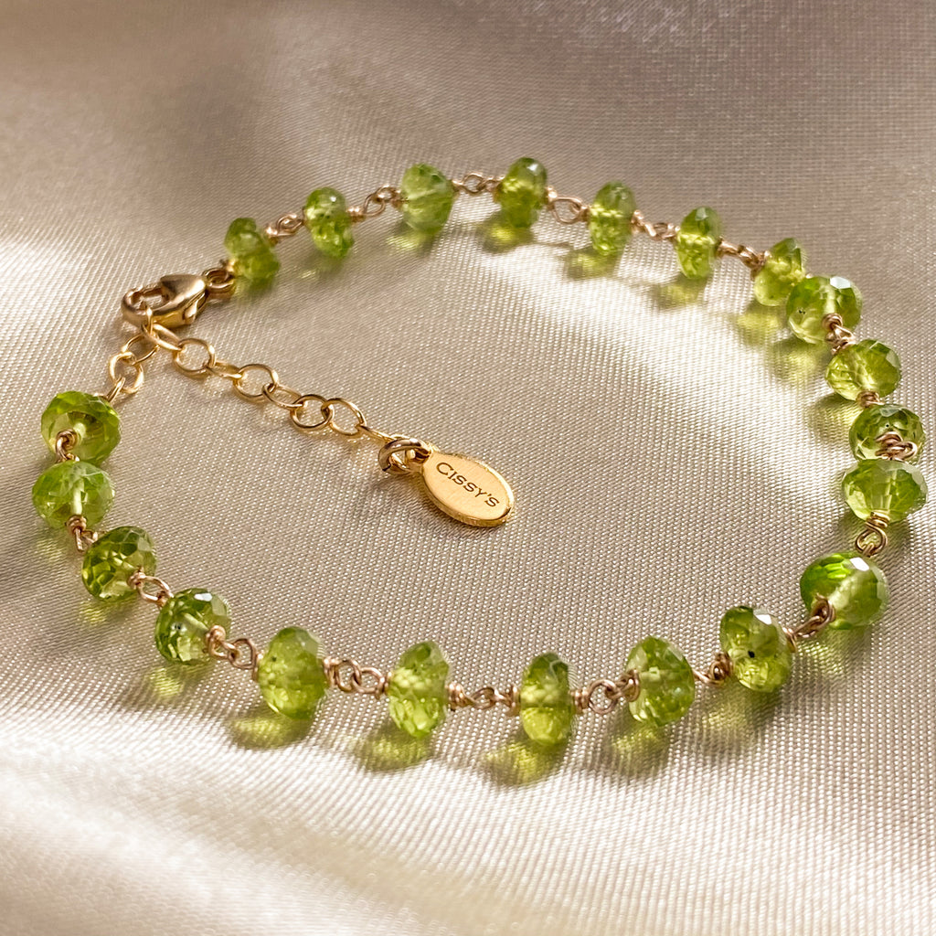 Peridot Stacking Bracelet