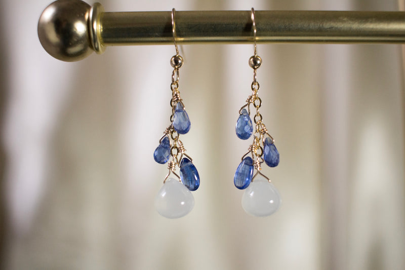 Clarisse Kyanite and Moonstone Earrings