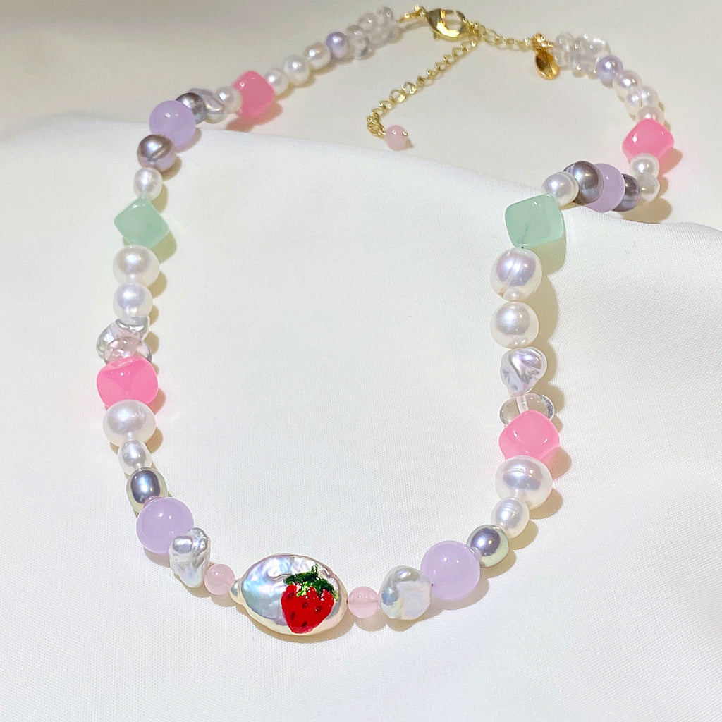 Strawberry Gemstone Choker