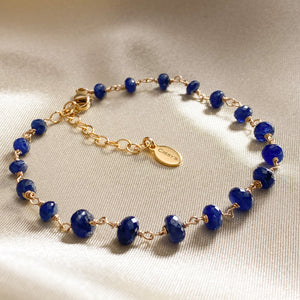 Blue Sapphire Stacking Bracelet