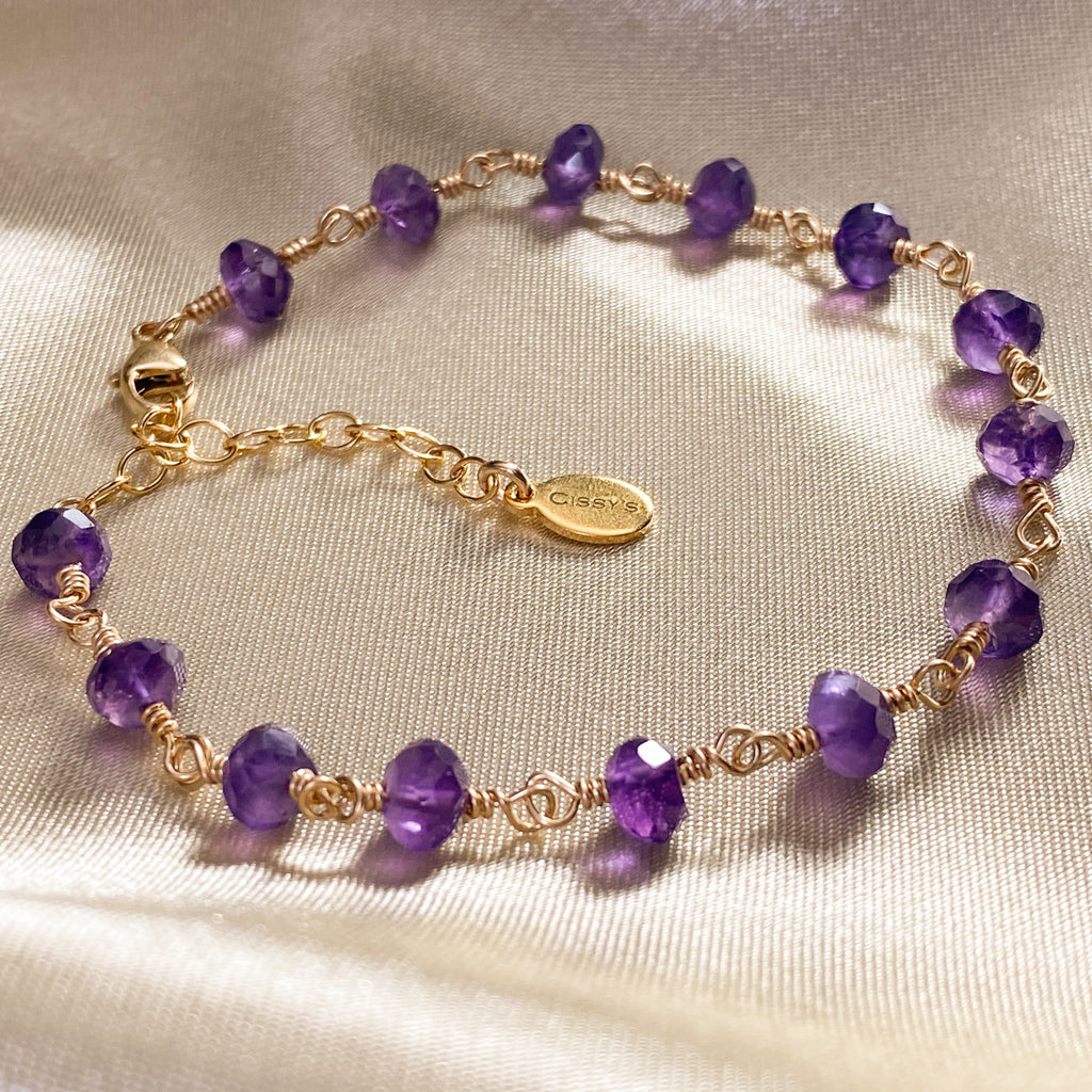 Amethyst Stacking Bracelet