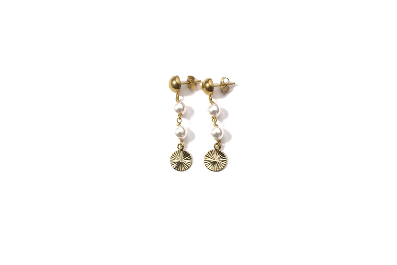 Sunrise Pearl Earrings