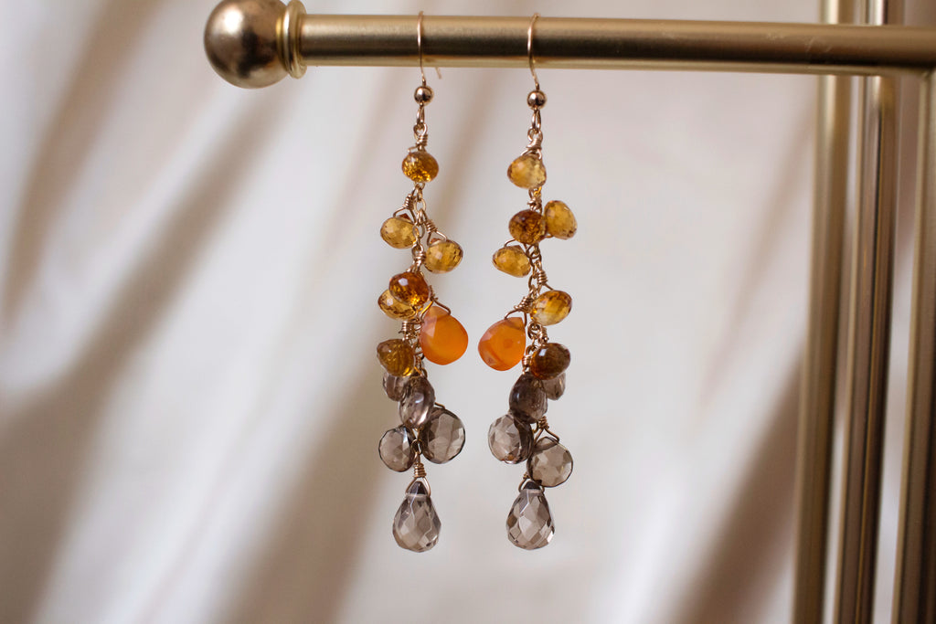 Sunset Brandy Citrine Earrings