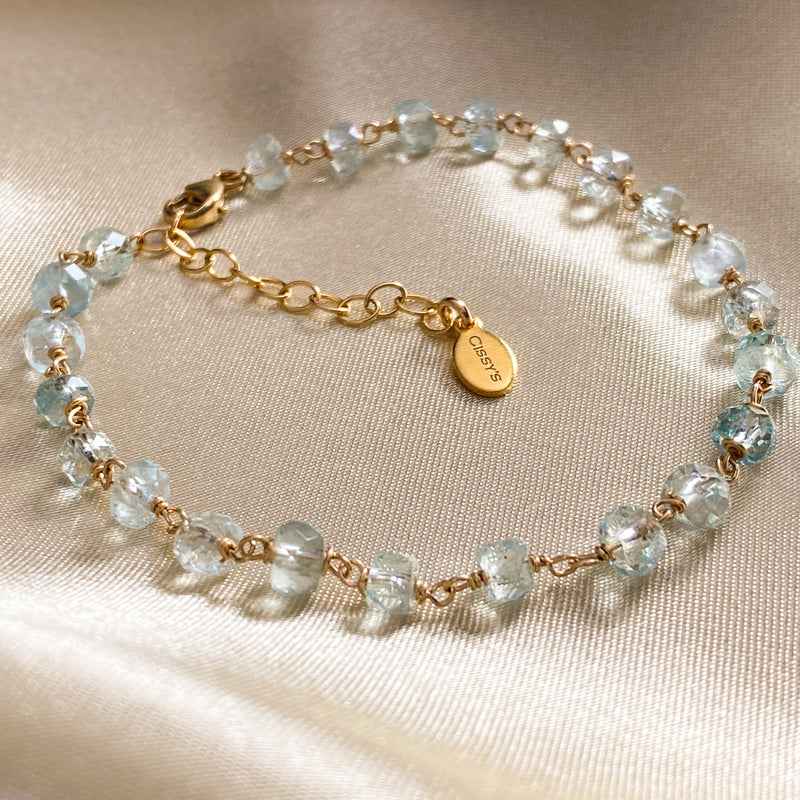Aquamarine Stacking Bracelet