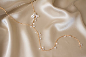 Lily Bells Keshi Pearl Lariat Necklace