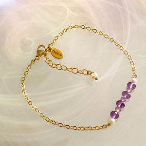 Amethyst Bar Stacking Bracelet