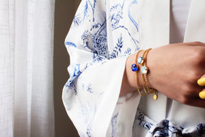 Prism Bracelet Santorini Collection - Aegean Blue - Cissy's Jewelry