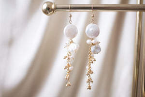 The Brielle Coin Pearl and Keshi Pearl Earrings