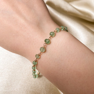 RARE Green Strawberry Quartz Stacking Bracelet