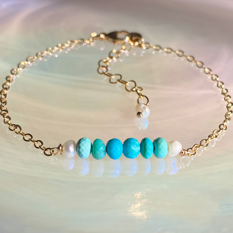 Turquoise Bar Stacking Bracelet