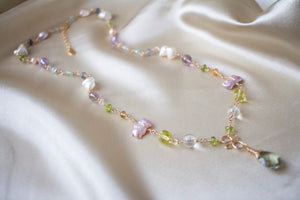 Flora Multi-Gemstone and Pearl Necklace