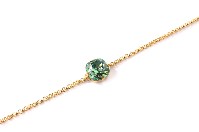 Green Swarovski® Crystal 14K Gold Filled Bracelet - Toronto Handcrafted