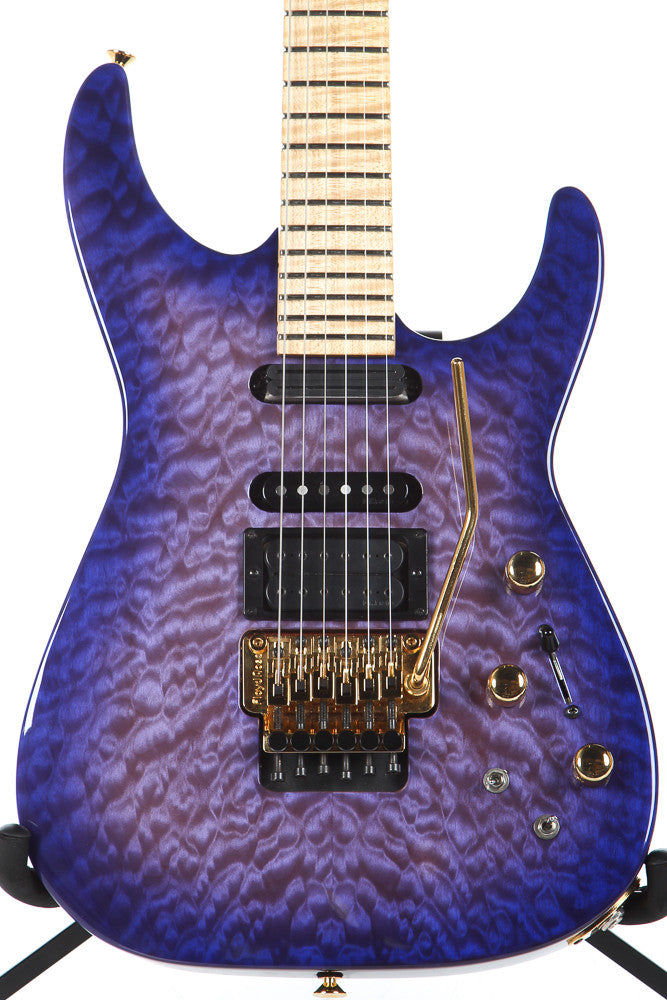 Jackson USA PC1 Phil Collen Artist Signature Purple Daze Quilt Top Collins