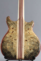 2016 Left-Handed Alembic Mark King 5 Deluxe Buckeye Burl ~Side LED's~