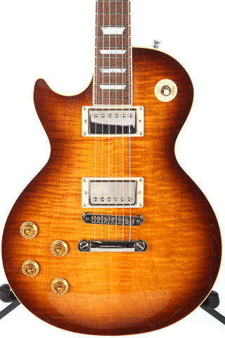 2002 Left Handed Gibson Les Paul Standard Plus Desert Burst