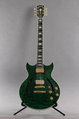 2011 Gibson Custom Shop Johnny A Signature AAAAA Trans Green Quilt Top