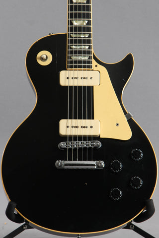 1980 Gibson Les Paul Pro Deluxe Ebony Black