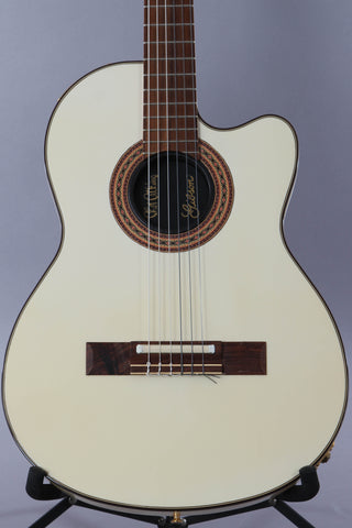 1985 Gibson Chet Atkins CE Classical Acoustic Alpine White -Rare-