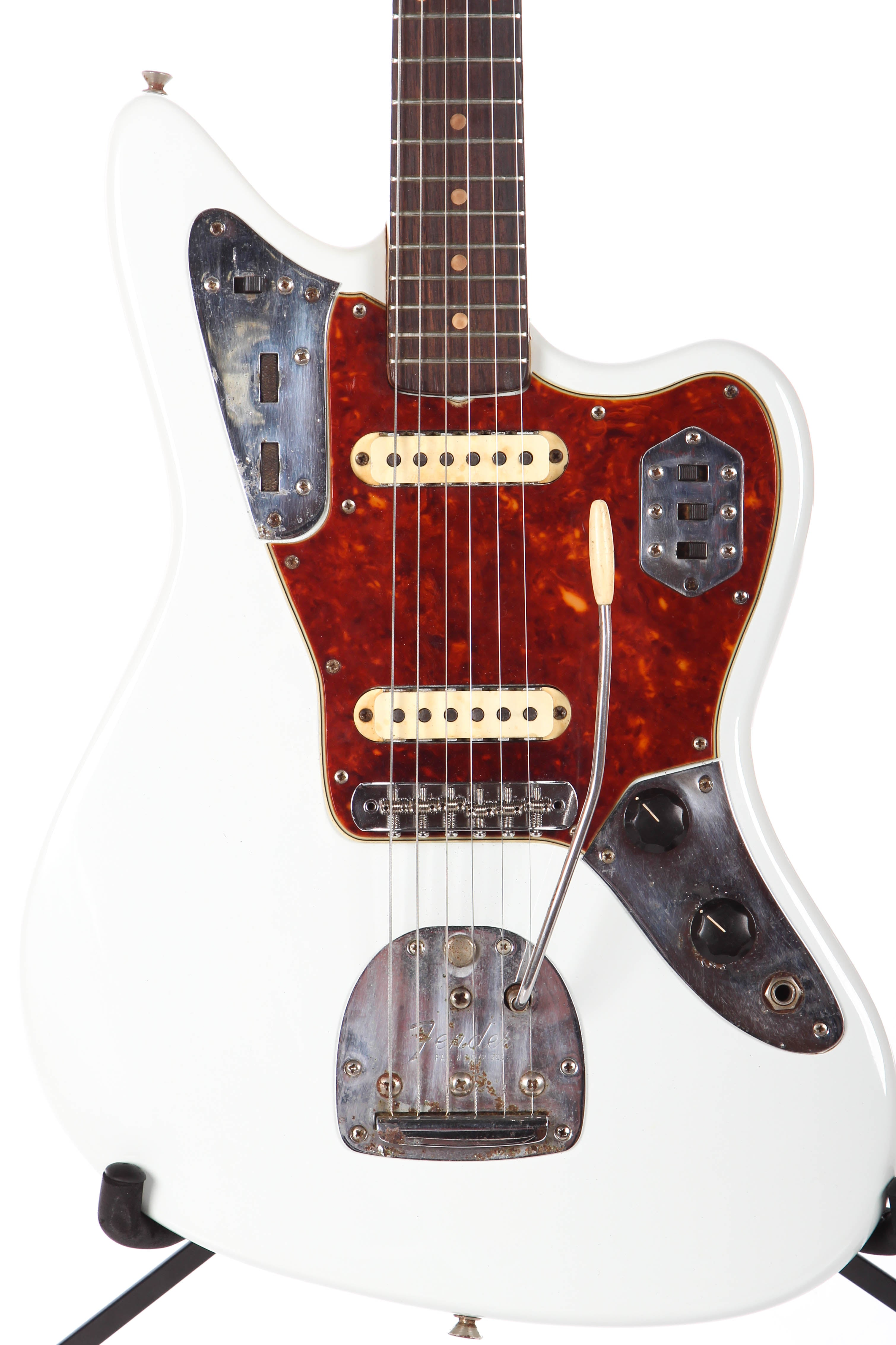 with item na electric guitar fender fingerboard front maple full straight american pro jaguar