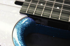 2005 Modulus FB4 Funk Unlimited Flea Bass Blue Sparkle