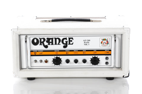Orange AD200B MKIII Tube Bass Head Limited Edition White