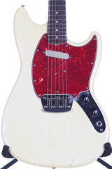 1966 Fender Musicmaster II Olympic White Vintage Electric Guitar