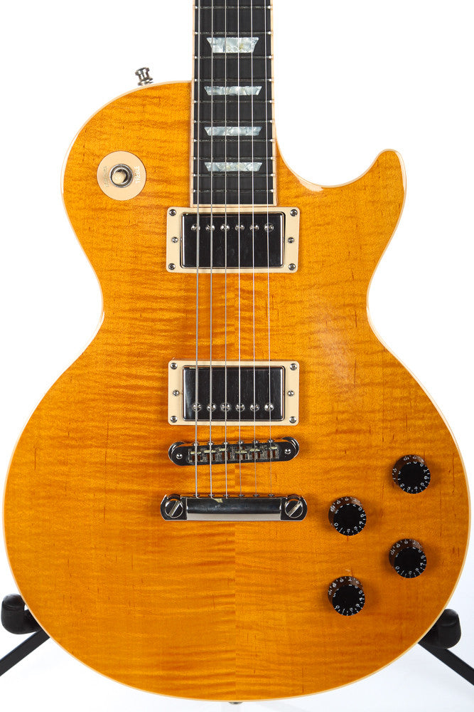 2004 Gibson Les Paul Standard Limited Edition Trans Amber Flame Top #215/275