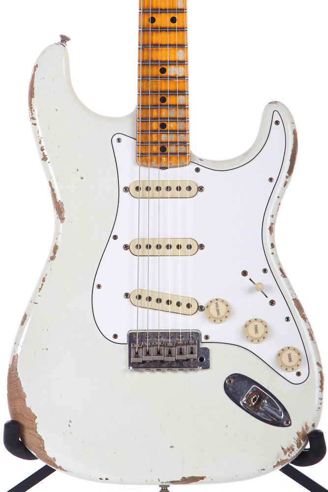 2016 Fender Custom Shop '69 Reissue Heavy Relic Stratocaster Olympic White 1969 Strat