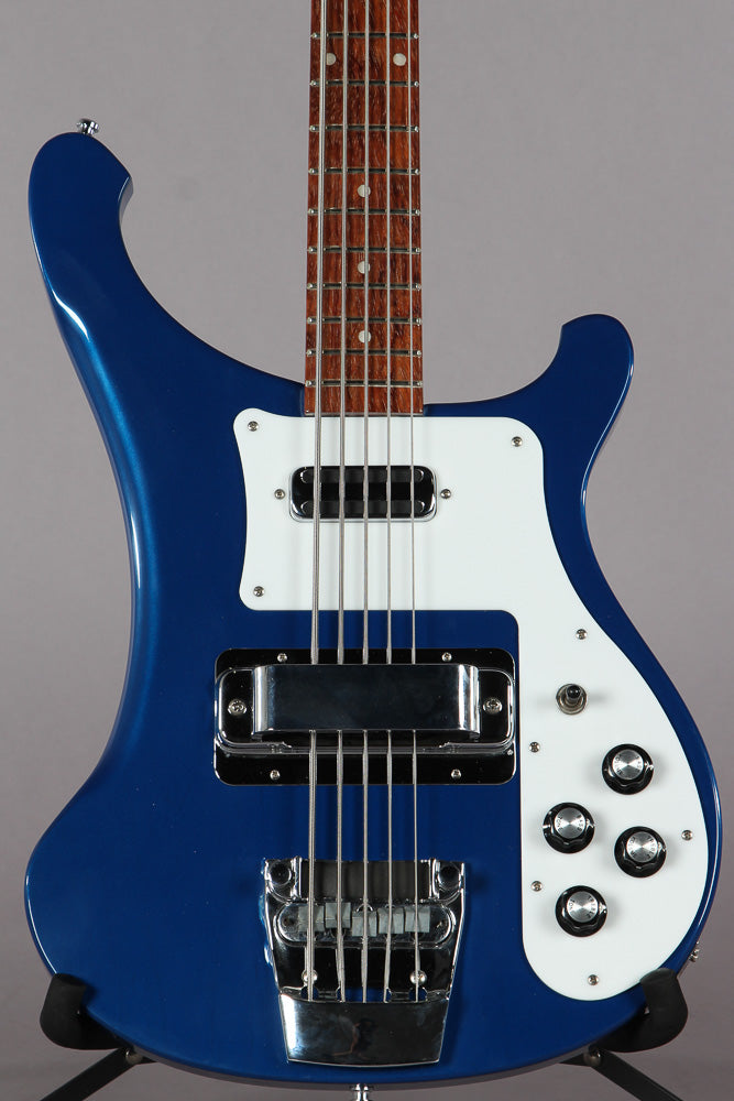 2001 Rickenbacker 4003S/5 5-String Bass Guitar Midnight Blue
