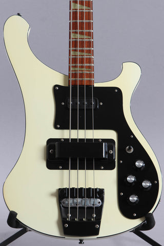 1987 Rickenbacker 4003 Bass Guitar White W/Black Binding
