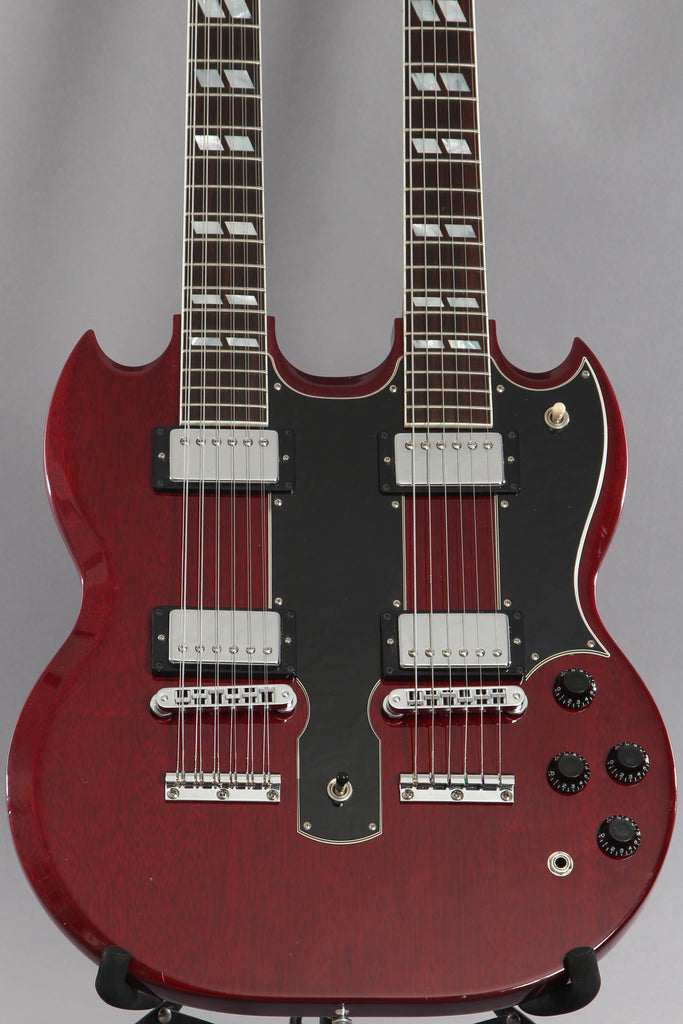 2001 Gibson Custom Shop EDS-1275 Sg Double-Neck Heritage Cherry Electric Guitar