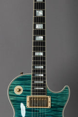 2011 Gibson Custom Shop Les Paul Custom Aqua Blue Flame Top