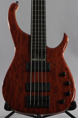 2003 Modulus Quantum Q 5 String Fretless Bass Guitar -Walnut Top-