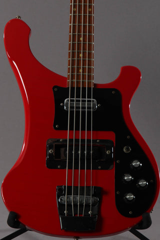 1992 Rickenbacker 4003S/5 5-String Bass Guitar Red