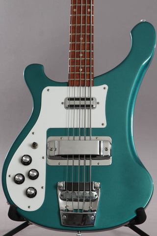 1994 Left Handed Rickenbacker 4003S/5 5-String Bass Turquoise ~Super Rare~