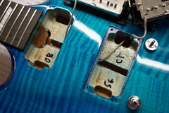 2009 Gibson Limited Run Series Sg Carved Top AAA Ocean Blue Burst