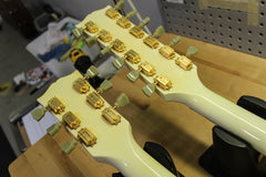 2001 Gibson EDS-1275 SG Double Neck Electric Guitar Alpine White