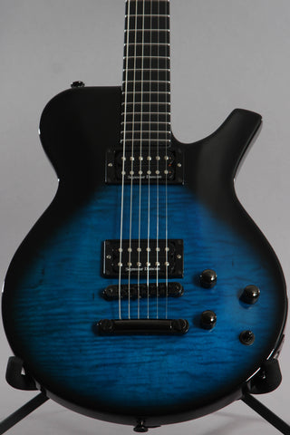 2005 Parker Fly Mojo Flame Single Cut Trans Blue Burst