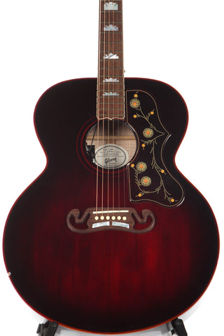 2007 Gibson Custom Shop SJ-200 Blood Shot Oxblood Acoustic Electric Guitar