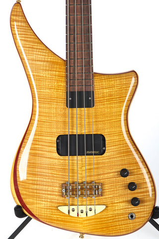 2005 Alembic Excel 4 String Bass Amber Flame Maple Top -SUPER CLEAN-