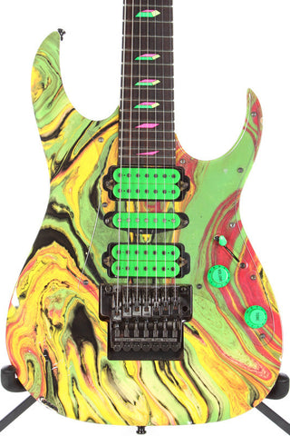 1990 Ibanez Universe UV77MC Multicolor 7 String